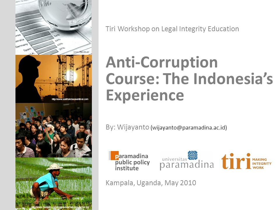 Anti-Corruption Course: The Indonesia's Experience