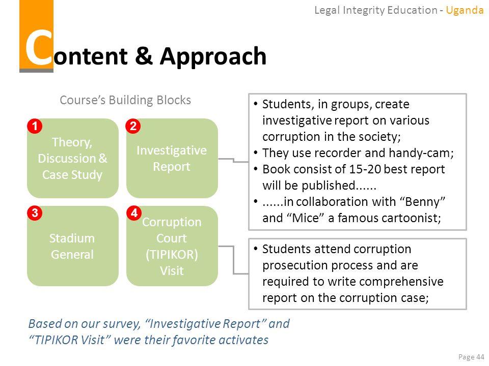 Content & Approach Course's Building Blocks