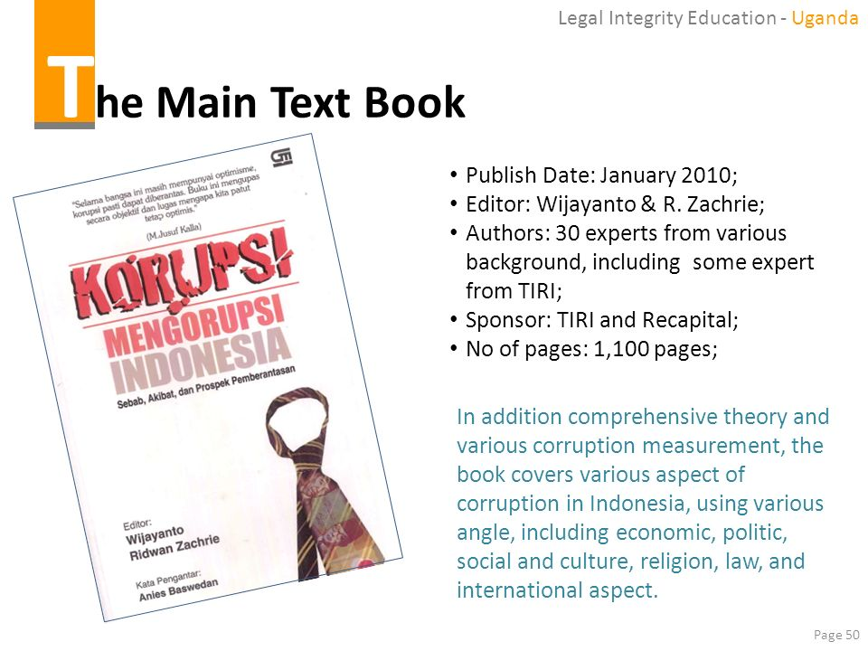 The Main Text Book Publish Date: January 2010;