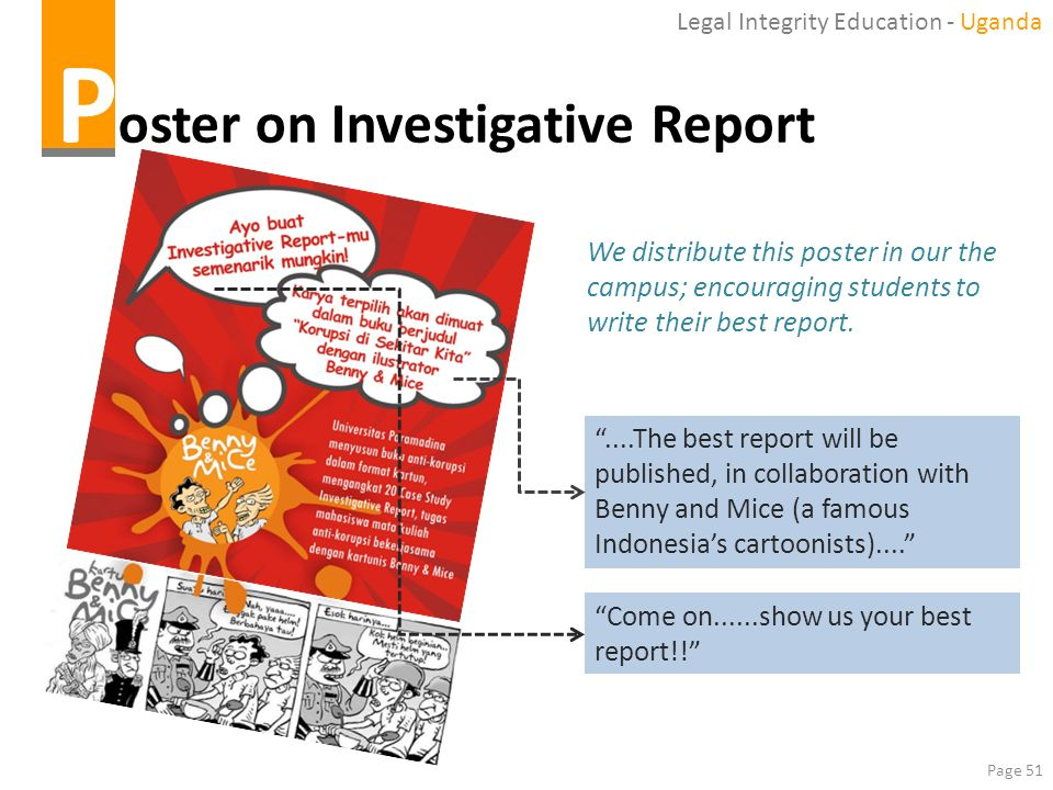 Poster on Investigative Report