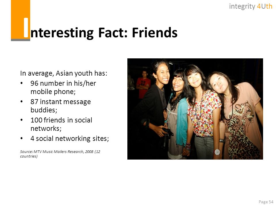 Interesting Fact: Friends