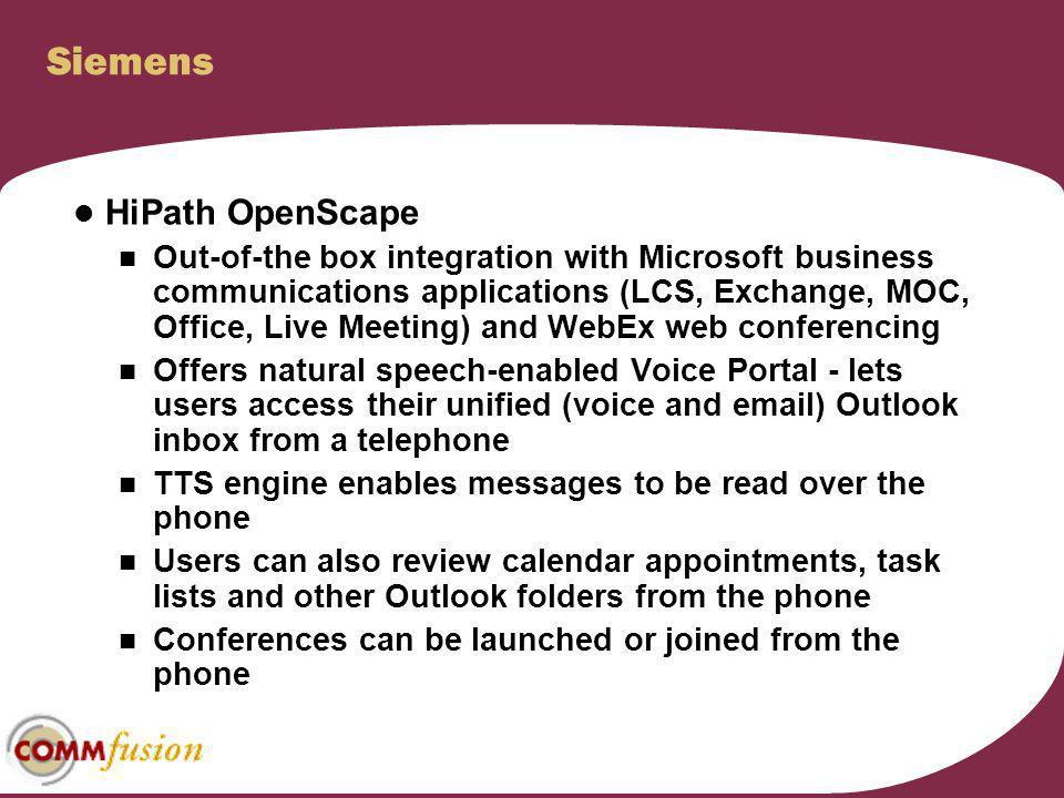 Siemens HiPath OpenScape