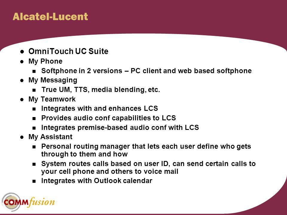Alcatel-Lucent OmniTouch UC Suite My Phone