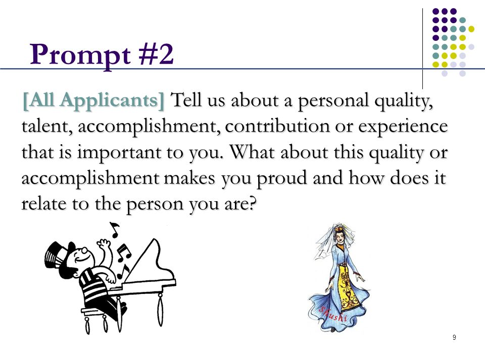 uc personal statement prompt 2 help Our uc personal statement help will ensure that your statement is written or edited to the highest of standards to help you gain acceptance.