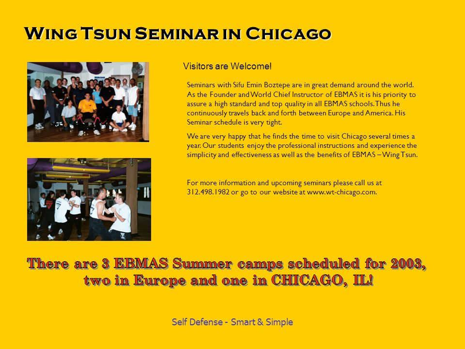 Wing Tsun Seminar in Chicago