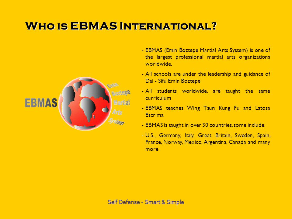Who is EBMAS International
