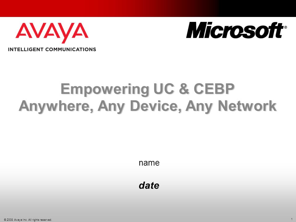Empowering UC & CEBP Anywhere, Any Device, Any Network
