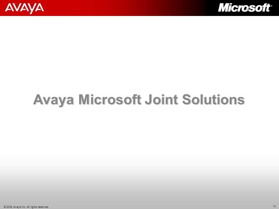 Avaya Microsoft Joint Solutions