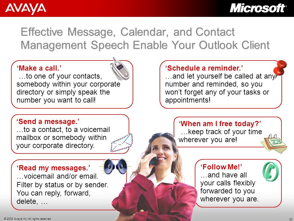 Effective Message, Calendar, and Contact Management Speech Enable Your Outlook Client