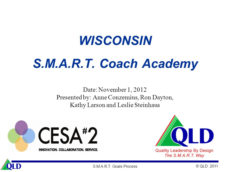 WISCONSIN S.M.A.R.T. Coach Academy