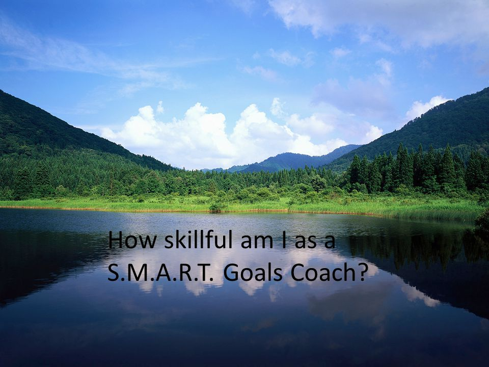 Self-Reflection How skillful am I as a S.M.A.R.T. Goals Coach