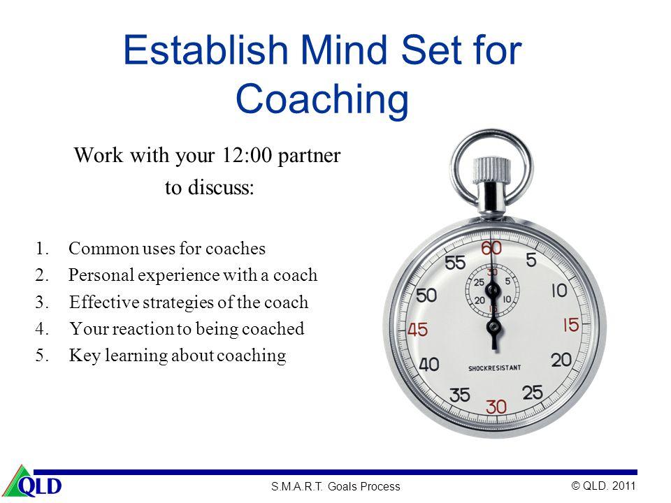 Establish Mind Set for Coaching