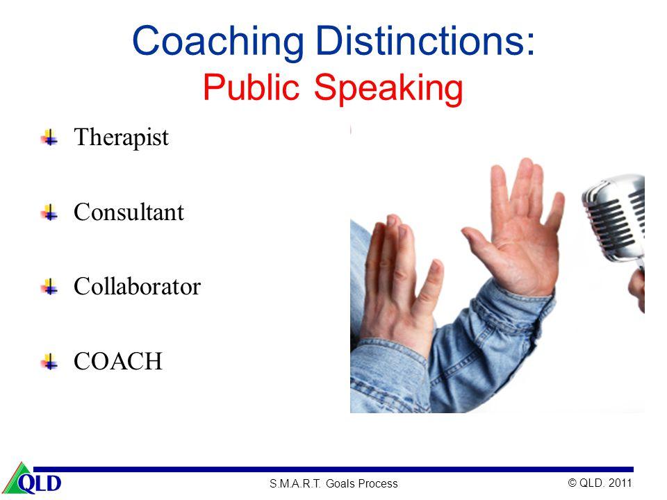 Coaching Distinctions: Public Speaking