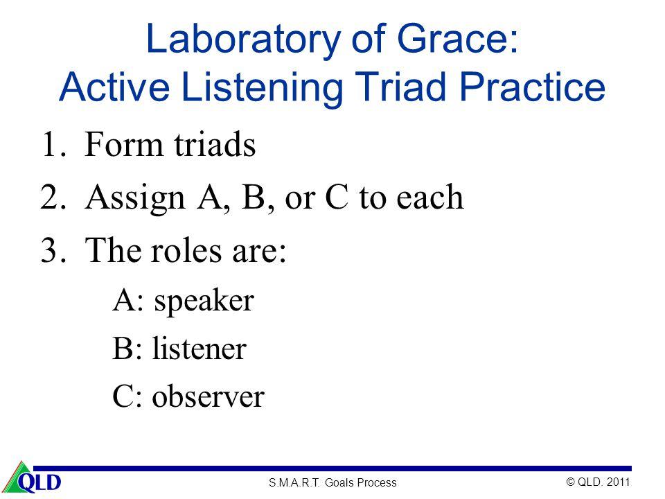 Laboratory of Grace: Active Listening Triad Practice