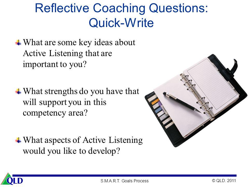 Reflective Coaching Questions: Quick-Write