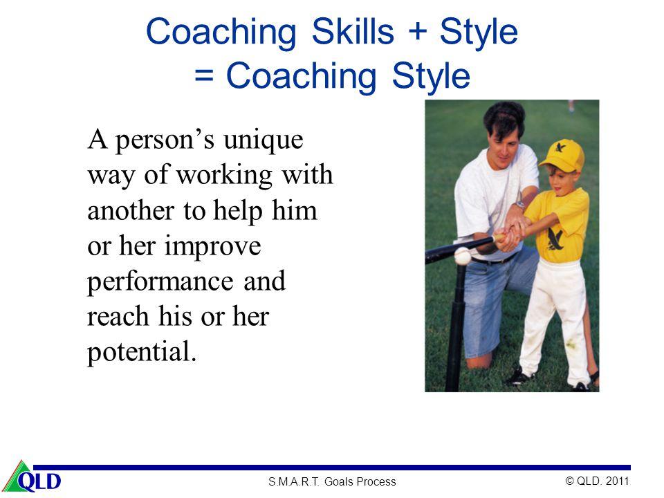 Coaching Skills + Style = Coaching Style
