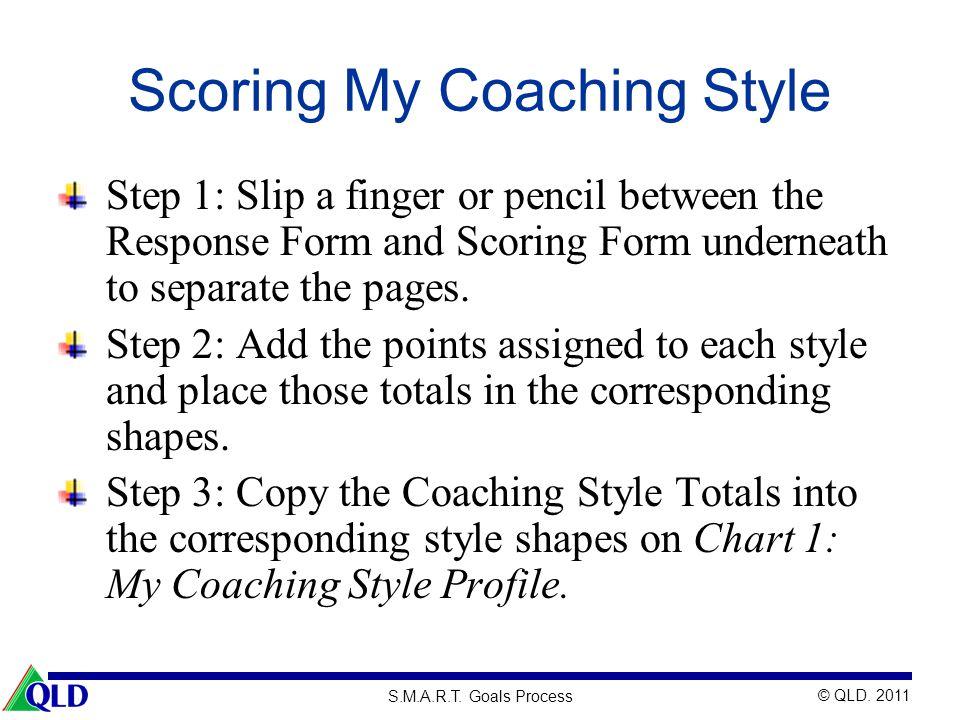 Scoring My Coaching Style