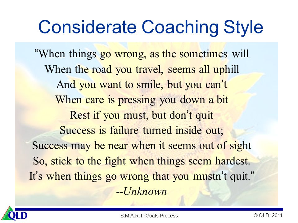 Considerate Coaching Style