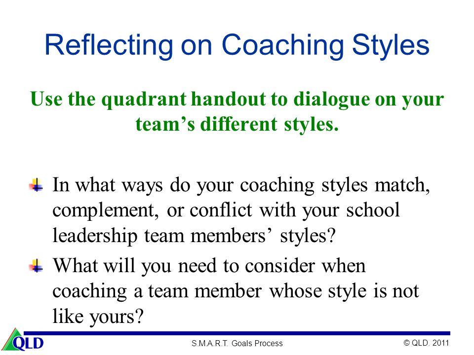 Reflecting on Coaching Styles