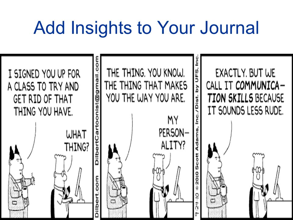 Add Insights to Your Journal