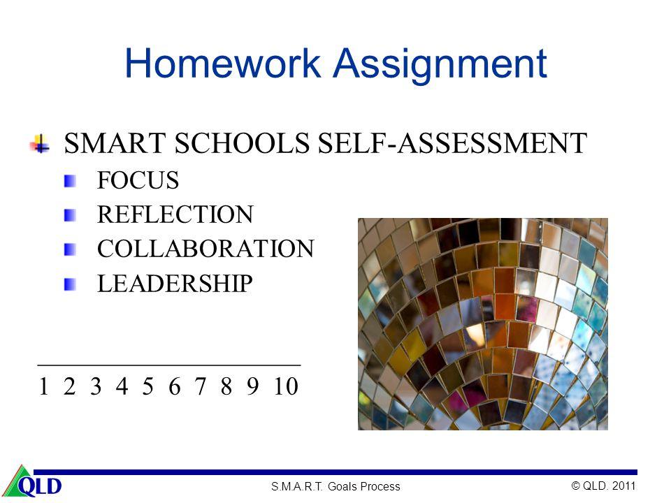 Homework Assignment SMART SCHOOLS SELF-ASSESSMENT FOCUS REFLECTION