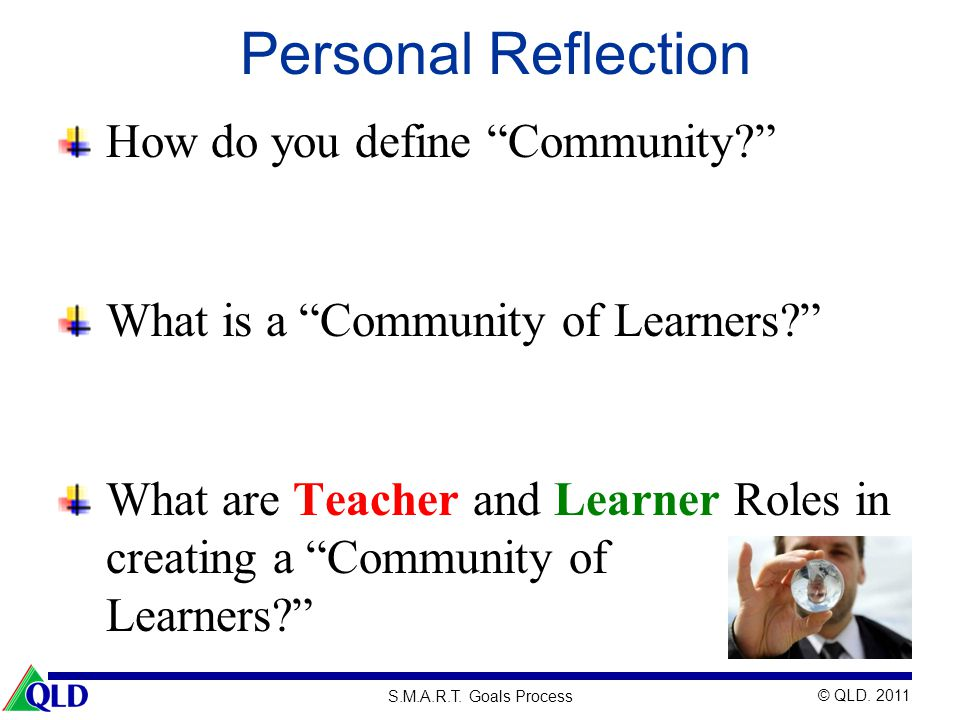 Personal Reflection How do you define Community
