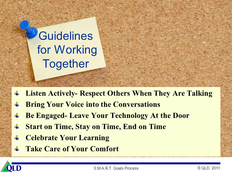Guidelines for Working Together