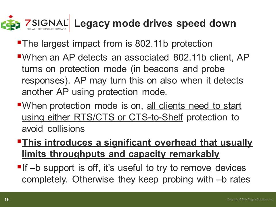 Legacy mode drives speed down