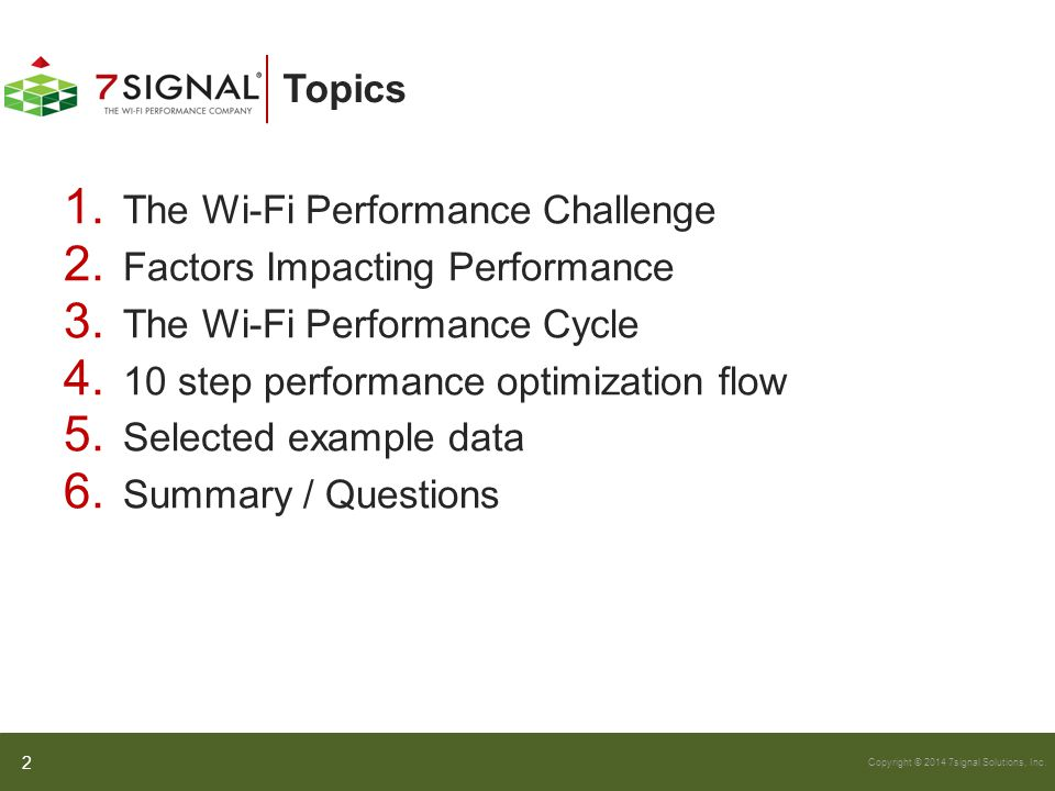 The Wi-Fi Performance Challenge Factors Impacting Performance