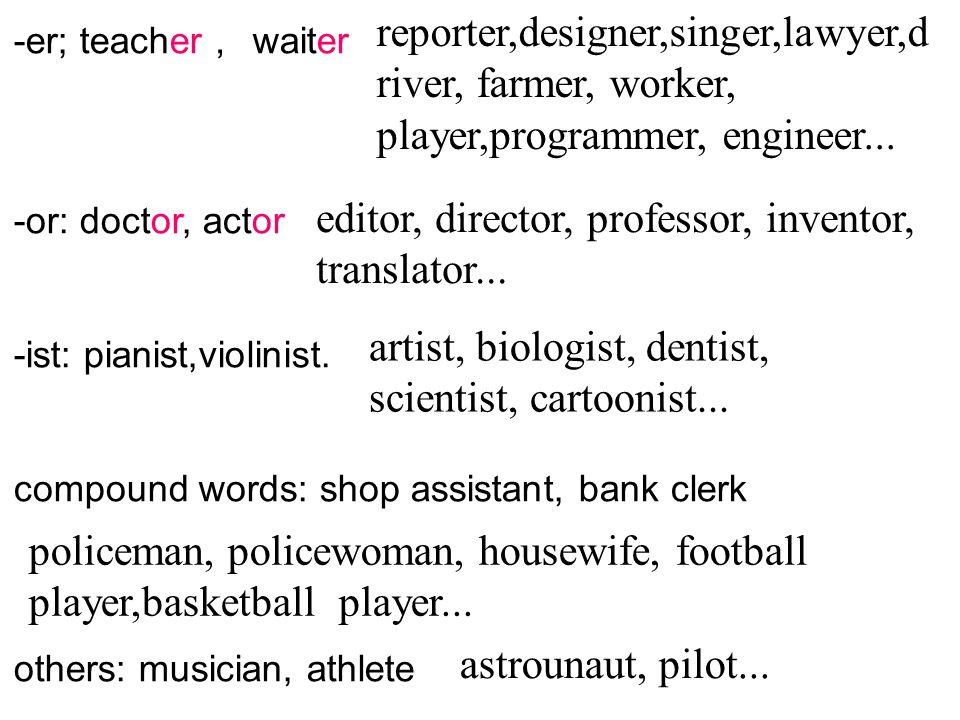 editor, director, professor, inventor, translator...
