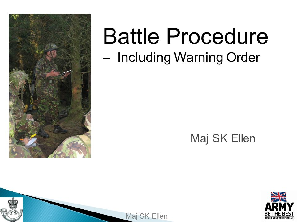 Battle Procedure – Including Warning Order
