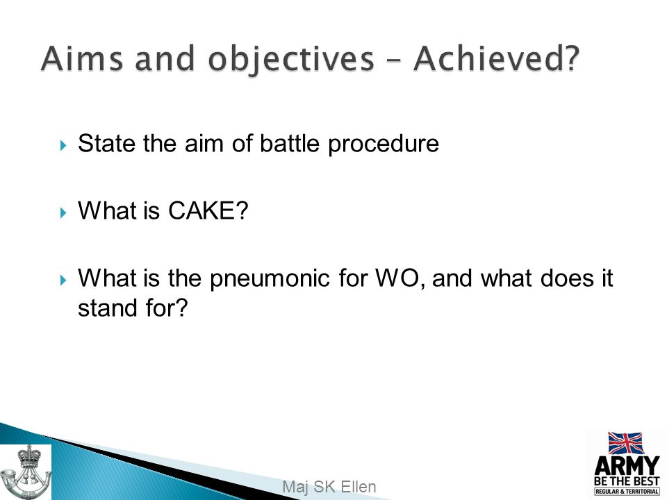 Aims and objectives – Achieved