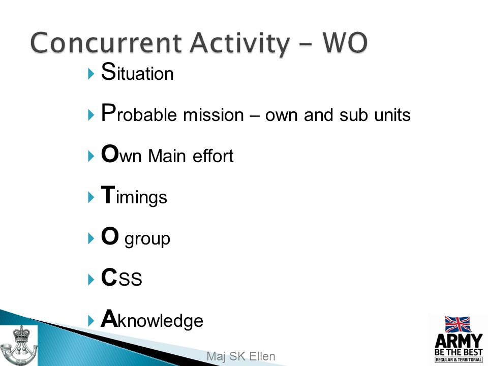 Concurrent Activity - WO