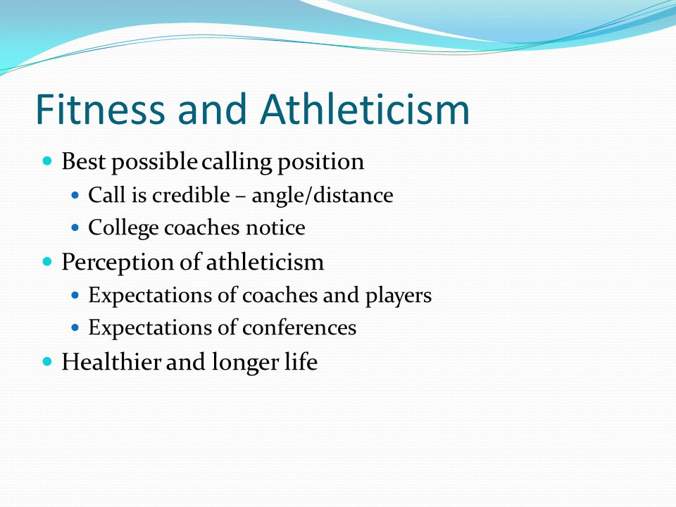 Fitness and Athleticism