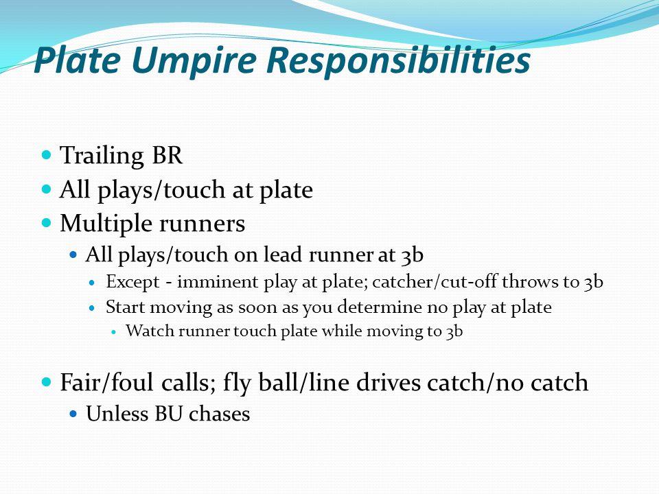 Plate Umpire Responsibilities