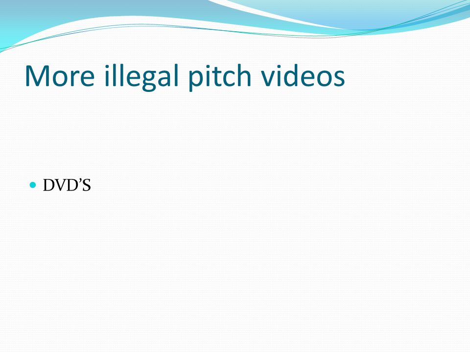 More illegal pitch videos