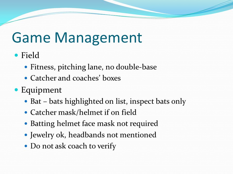 Game Management Field Equipment Fitness, pitching lane, no double-base