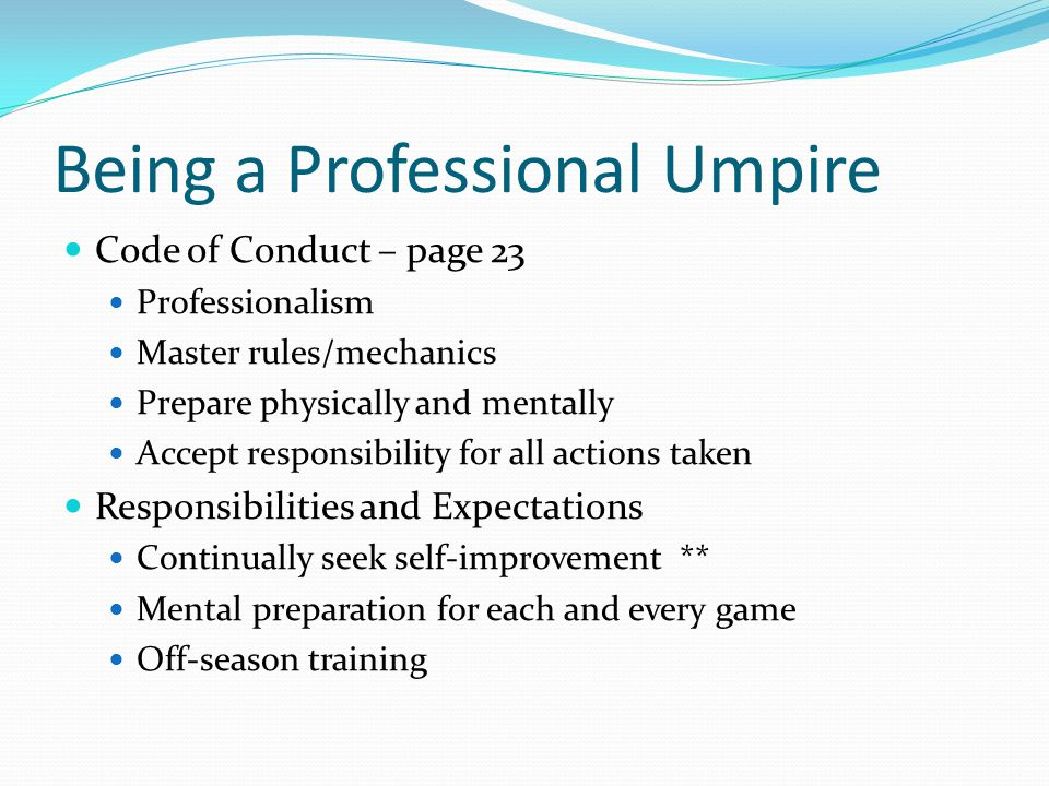 Being a Professional Umpire