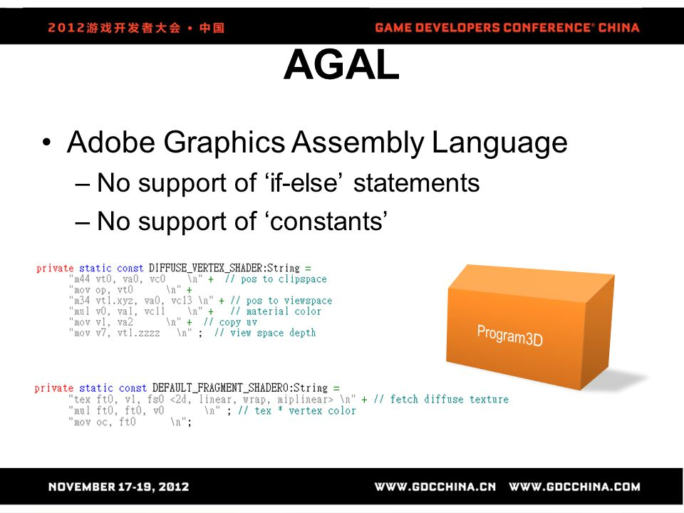 AGAL Adobe Graphics Assembly Language