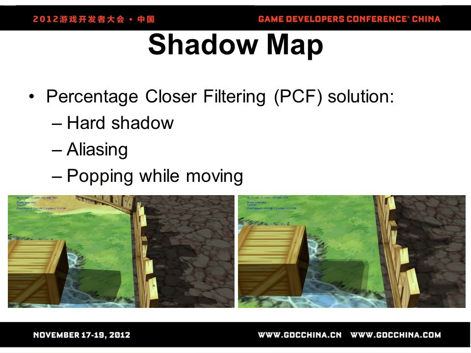 Shadow Map Percentage Closer Filtering (PCF) solution: Hard shadow