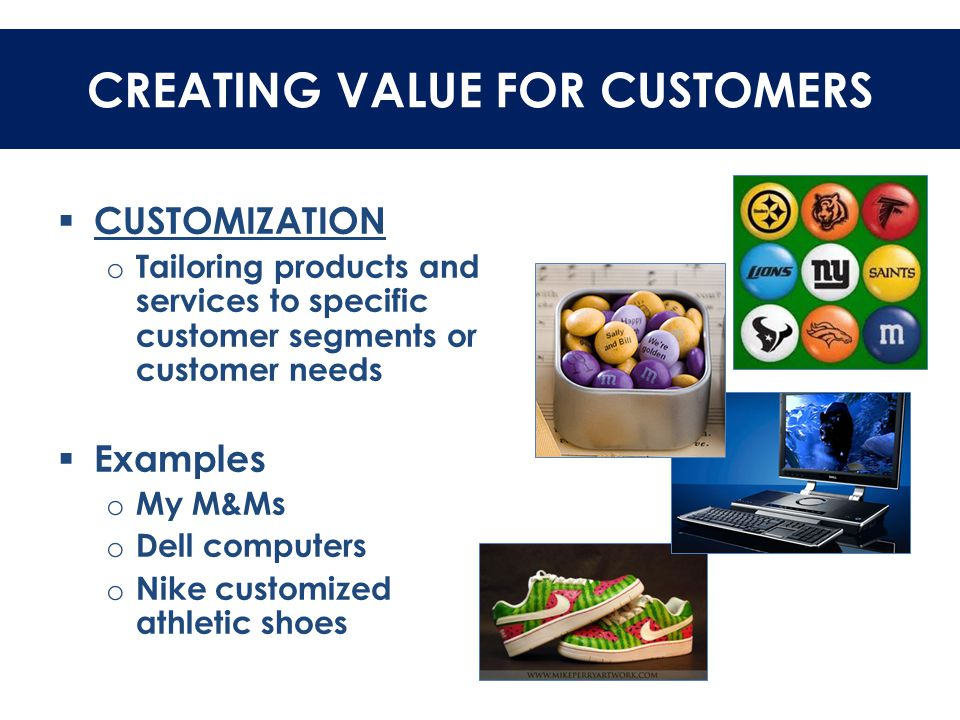CREATING VALUE FOR CUSTOMERS