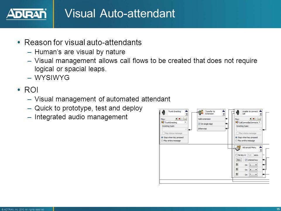 Visual Auto-attendant