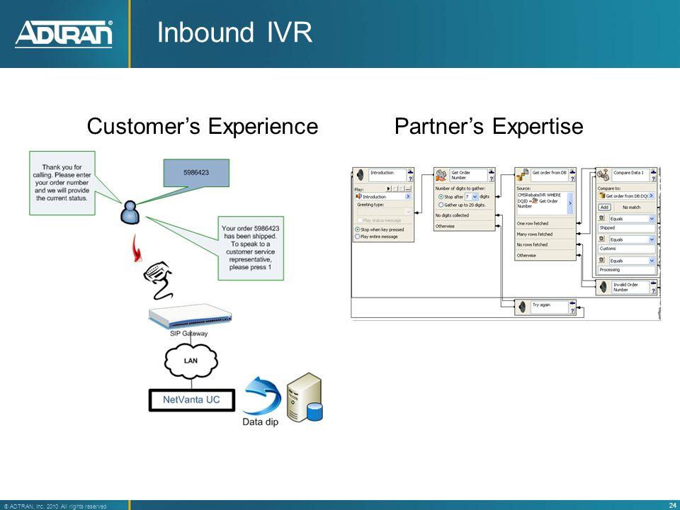 Inbound IVR Customer's Experience Partner's Expertise