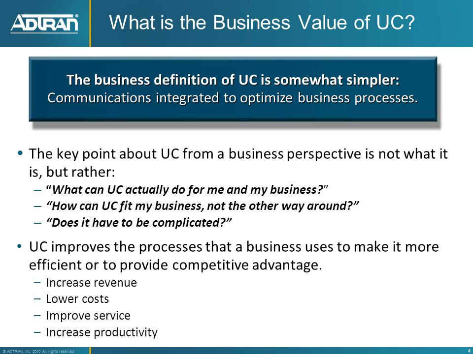 What is the Business Value of UC