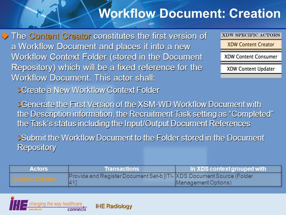 Workflow Document: Creation