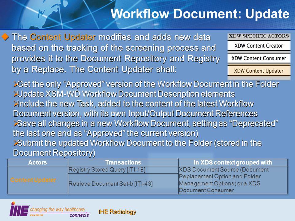 Workflow Document: Update