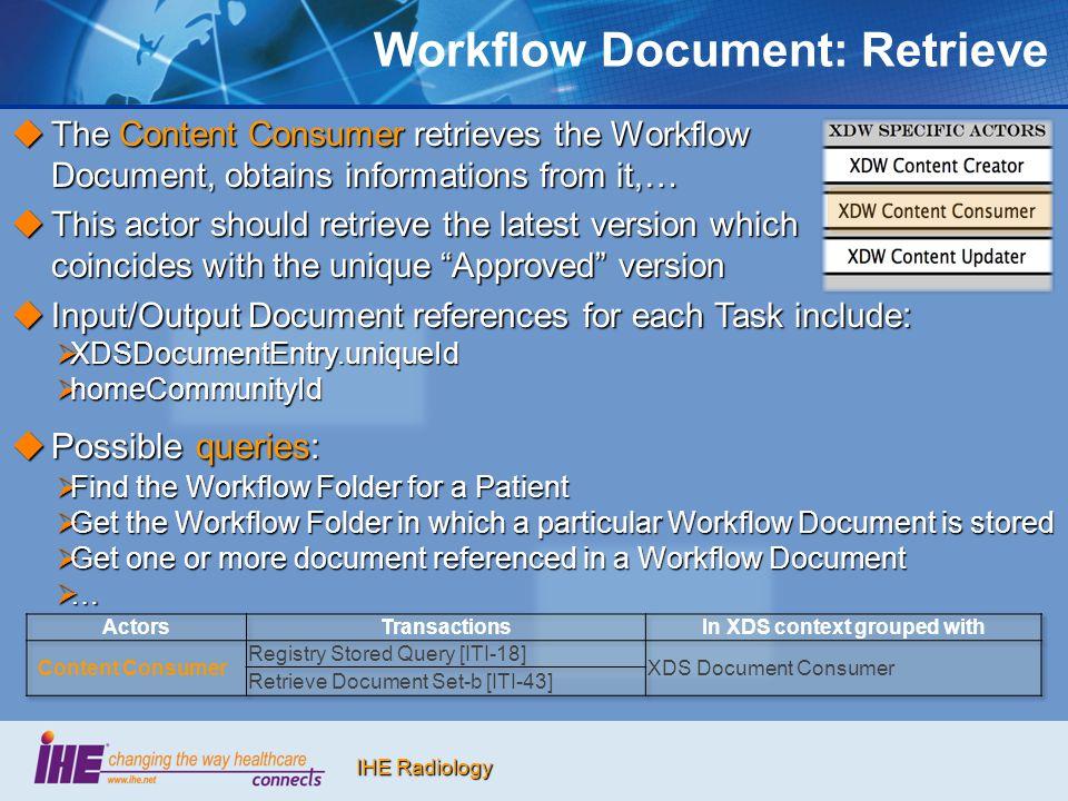 Workflow Document: Retrieve