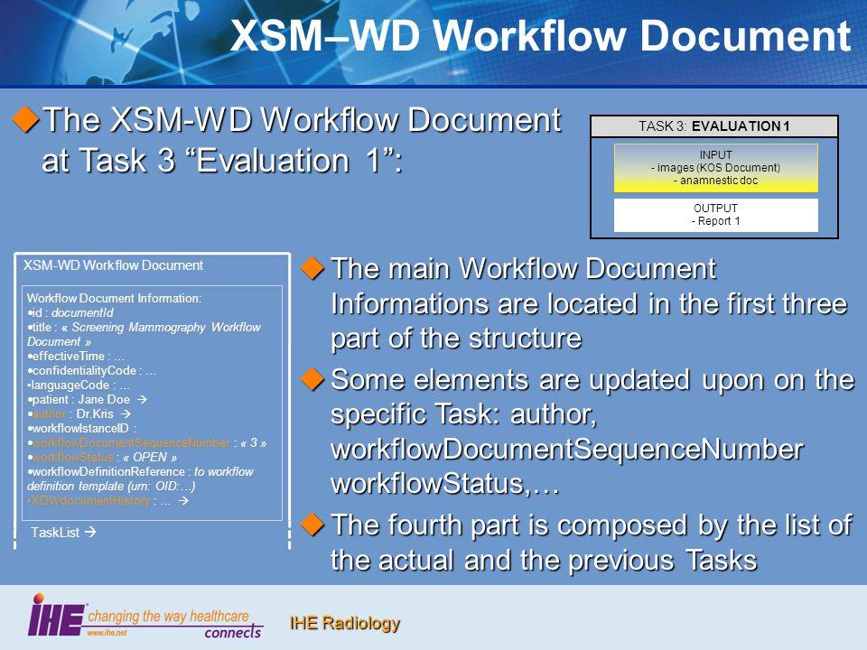 XSM–WD Workflow Document
