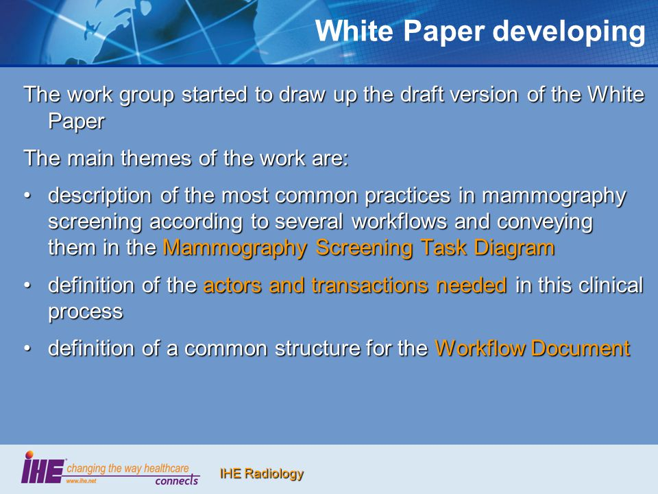 White Paper developing