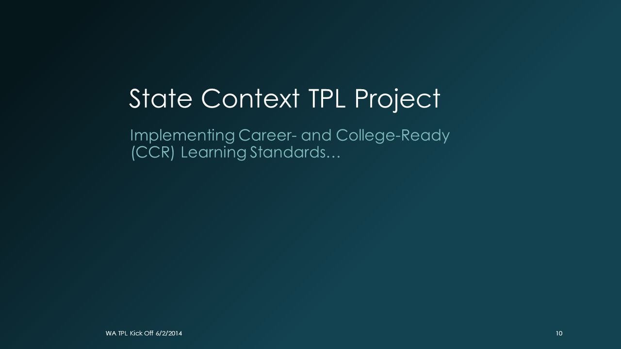 State Context TPL Project